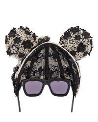 """Gafas De Sol Con Máscara """"Mickey Head"""" Kuboraum de color Black"""