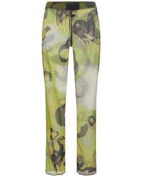 Heron Preston Green Hern Camo Mesh Pants