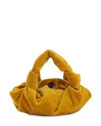 "The Row Yellow Mini Tasche Aus Samt ""ascot"""