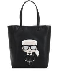 Karl Lagerfeld K/ikonik Karl ソフトトートバッグ Black