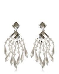 Balmain Multicolor Crystal Drop Earrings