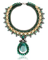 Ranjana Khan | Green Intricate Envious Collar Necklace | Lyst