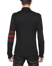 Givenchy Black Hdg Cuban Fit Cotton Piquet Polo for men