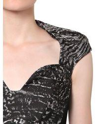 Antonio Berardi Black Silk Jacquard And Techno Cady Dress