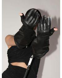 Rick Owens レザー手袋 Black