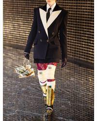 Gucci ファインウール&シルク キャディミニスカート Black