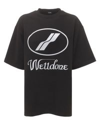 we11done ジャージーtシャツ Black