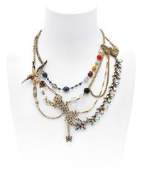 Maria Zureta Multicolor Animal Leopard Necklace