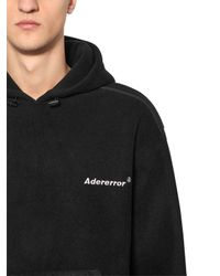 ADER ERROR - Black Hoodie Aus Fleece for Men - Lyst