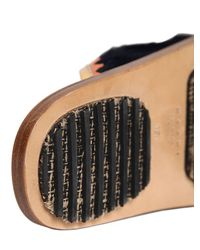 Marni - Blue 10mm Ponyskin Crossover Slide Sandals - Lyst