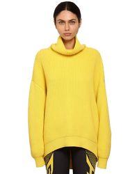 Givenchy オーバーサイズウールリブニットセーター Yellow