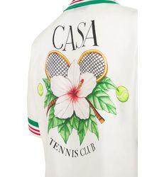 """Camiseta """"tennis Club"""" De Seda Satinada CASABLANCA de hombre de color Multicolor"""
