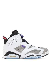 Nike White Air Jordan 6 Retro Ltr Sneakers for men