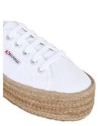 Superga White 40mm 2790 Cotton Canvas Sneakers