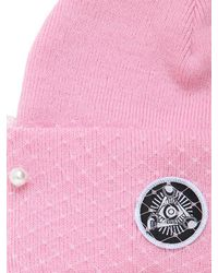 Silver Spoon Attire Pink Beanie Hat With Veil & Bow