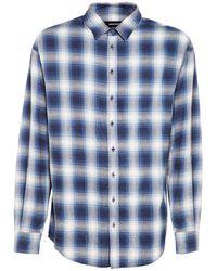 DSquared² Blue Check Cotton Shirt for men