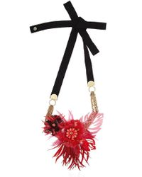 Matthew Williamson - Red Palm Perspex Necklace - Lyst