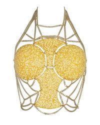 Idriss Guelai Atelier - Metallic Solar Flare Body Harness - Lyst
