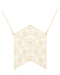 Lotocoho | Metallic Alhambra Arrow Shaped Necklace | Lyst