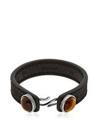 Gfase - Black Bussola Tiger's Eye Bracelet for Men - Lyst