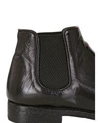 Alberto Fasciani Black Evita Buffalo Leather Ankle Boots