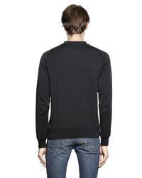 Golden Goose Deluxe Brand Black Rubberized Logo Print Cotton Sweatshirt for men