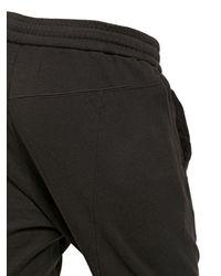 Julius Black Cotton Jersey Jogging Trousers for men