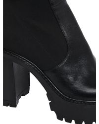 Strategia - Black 90mm Leather & Elastic Boots - Lyst