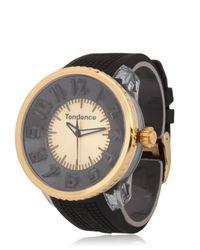 Tendence - Metallic Flash Led Black & Gold Watch - Lyst