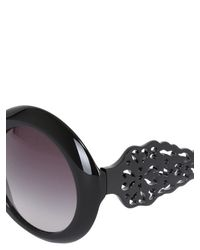 Dolce & Gabbana | Black Spain & Sicily Acetate Round Sunglasses | Lyst
