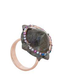 Katie Rowland | Metallic Mercier Statement Claw Ring | Lyst