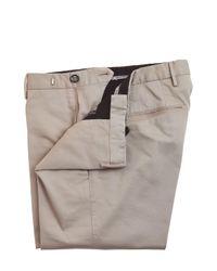PT01 Natural 17cm Sleek Cotton Satin Pants for men
