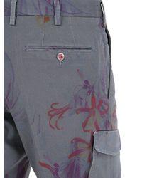 PT01 Blue High Tech Stretch Bull Cotton Shorts for men