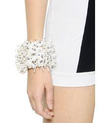 NO KA 'OI - White Embellished Techno Satin Bracelet - Lyst