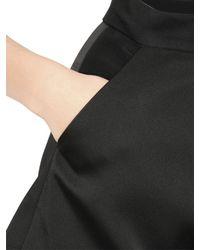 Cameo Black Viscose Shorts With Duchesse Satin