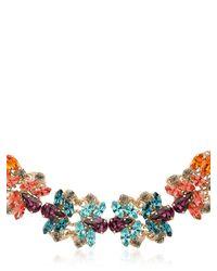 Anton Heunis - Metallic Flower Motif Necklace - Lyst