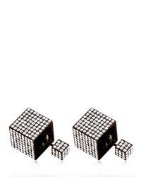 Vita Fede - Black Jumbo Double Cube Earrings - Lyst
