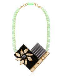 Silvia Rossi - Black Sun Flower Necklace - Lyst