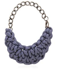 Alienina Blue Odyssee Rope Necklace