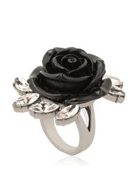 Mawi | Black Rose & Crystal Spring Ring | Lyst