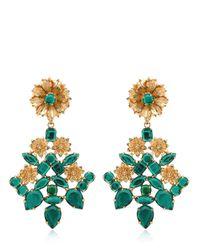 Mercantia | Metallic Lux Flower Drop Earrings | Lyst