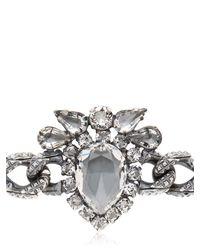 Emanuele Bicocchi Metallic Swarovski Crystal Bracelet for men