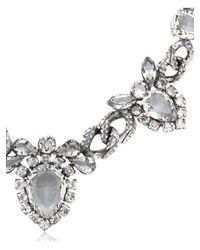 Emanuele Bicocchi Metallic Swarovski Crystal Necklace