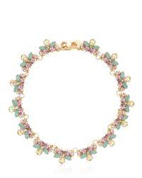 Anton Heunis Metallic Flower Swarovski Crystal Necklace