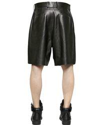 Givenchy Black Nappa Leather Shorts
