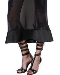 Francesco Scognamiglio Black Silk Chiffon Skirt With Mikado Hem