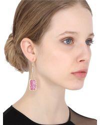 Jade Jagger - Purple Ruby & Diamonds Drop Earrings - Lyst