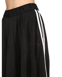 Y-3 Black Cotton Blend Track Skirt