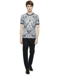 Dolce & Gabbana Black Crown Embroidered Cotton Jogging Pants for men