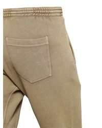 DSquared² | Brown Washed Cotton Jogging Pants for Men | Lyst